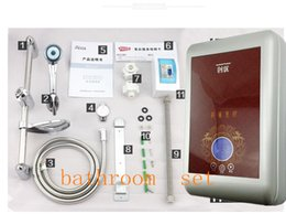 Wholesale Faucet Heater - 380M Electric Water Heater Instant Tankless Water Heater 7.5W 3 Second Constant Temperature Water heater Shower Set