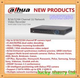 Wholesale 64ch Dvr - DAHUA Professional NVR 8ch 16ch 32ch 64ch NVR 1080P 720P D1 1U NVR7264 support 2HDD