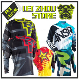 Wholesale Atv S - 2018 Off road ATV Racing T-Shirt 2017 AM RF Bicicleta Ciclismo Bike downhill Jersey Camisa motocicleta motocross MTB DH MX Ropa D