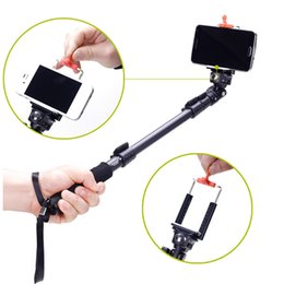 Wholesale Iphone C Aluminum - Universal C-088 Extendable Handheld Tripod Monopod Adapter Self Held with Phone Clip for iPhone 5S 6 DSLR Camera order<$18no track