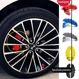 Wholesale Rear Wheel Abs - EU Stock 2pcs Set ABS Car Brake Caliper Front Rear Brake Caliper Cover Case Wheel Hub Decoration Accessories 5 Colors