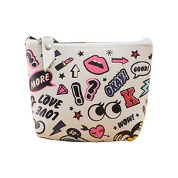 Wholesale Funny Squares - Wholesale- Women Girls Cute Fashion Coin Purse Wallet Bag Change Pouch Key Holder Funny cartoon pattern coin purse wallet