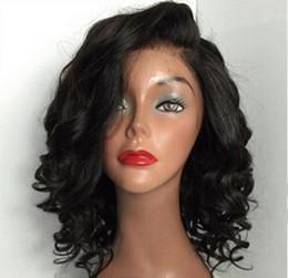Wholesale Wig Long Wavy Bob - unprocessed brazilian glueless full lace short human hair wigs with bangs short wavy bob lace front wig for black women