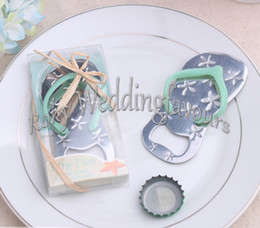 Wholesale Flip Flop Bridal Shower Favors - DHL Free Shipping!50PCS LOT! Flip Flop Bottle Opener Wedding Favors,Beach Theme Bridal Shower Party Event Favors wedding flip flops