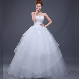 Wholesale Cheap Plus Size Dress China - Cheap High Quality Ball Gown Wedding Dresses Lace Appliques Sweetheart Sleeveless Corset Back Tulle Skirt Wedding Gowns from China Bridal