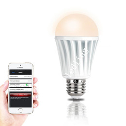 Wholesale Rgb Wifi Bulb - 2pcs CREE LED Wifi Bulb Newest Wireless Remote Control Changing bluetooth Iphone Andriod Smartphone AC100-AC240V 7.5W