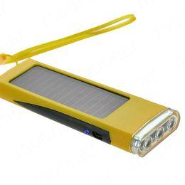 Wholesale Power Digital Camera - Wholesale-Portable Solar Flashlight Radio Power Charger For Phone MP3 4 Digital Camera DA0103