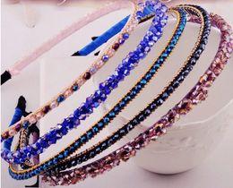 Wholesale Hair Jewels Headbands - Girls   Women Ribbon or Jewel headbands Fashion hair accessories (5pc Set Girls   Women Bejeweled Sparkle Headbands--Color May Vary)