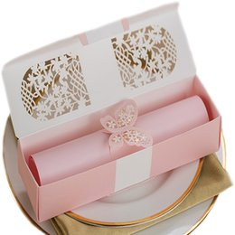 Wholesale Secret Message - 50Pcs Scroll Invitations,Scroll Wedding Invitations,Scroll work Invitation for Wedding Proposal, Party Invitation Kit or Secret Message