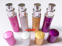 Wholesale Defense Sprays - Self Defense Device Lipstick Style Heart Patterned Pepper Spray 20ML- Silver gold purple