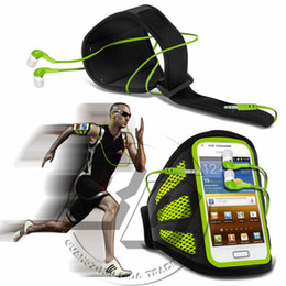 Wholesale Galaxy S Advance Cases - Wholesale-For Samsung Galaxy S Advance I9070 Mesh Breathing Holes Cell Phone Running Sport Armband Belt Bags Cases Cover Earphone
