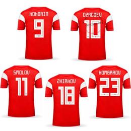 rusia uniformes de futbol Rebajas 2018 RUSIA ARSHAVIN KOKORIN ZHIRKOV DZAGOEV uniformes de fútbol kits de fútbol camisetas de calidad tailandia de Tailandia calidad camisetas de fútbol kit
