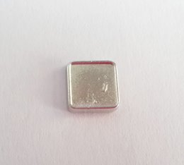 Wholesale Blank Jewelry Square - 8mm Inner 10mm Outside Square Silver Blank DIY Floating Charms for Memory Lockets Photo Charms for Making Jewelry
