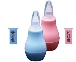 Wholesale Baby Nasal Care - 2016 Nasal Aspirator Cute Universal Super Simple Safe Convenient Pump Infant Nasal Suction Device Baby Care 3 Colors