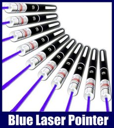 Wholesale Professional Laser Pen - Blue Laser Pointer Pen Beam Light 5mW Professional Lazer High Power 405nm Free Shipping