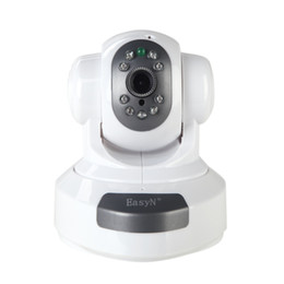 Wholesale Camera Ip Pt Ir Alarm - EasyN Wireless WiFi IR Cut IP Camera HD 1MP CMOS Security CCTV Camera Alarm PT Retail Box Webcam Web DH P2P Surveillance