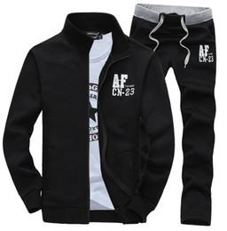 Wholesale Casual Sweat Suits For Men - Wholesale-Men Track Suit Cotton Fleece hoodies sweatshirts sports suit Stand Collar Casual Sports Coat,Sweat Suit For Men M-XXXL