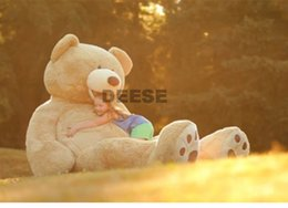 Wholesale Empty Teddy Bear Skins - Wholesale-340CM Plush toy Big mouth Teddy bear coat empty toy skin Plush toys Giant toy Dark Brown Light Brown