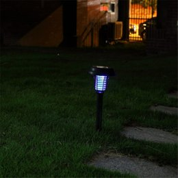 Wholesale Wholesale Bug Zappers - Bug Mosquito Insect Killer Lamps Outdoor Solar Lamps Bug Zapper Solar Light Waterproof Outside Lighting Lamp Lawn Garden Path Walkway