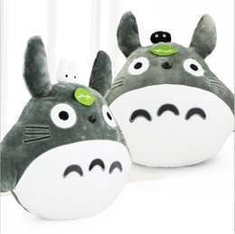 Wholesale Totoro Plush Wholesale - My Neighbor Totoro Pillow Stuffed Plush Animals Toys Soft Doll For Children 48*43cm High Quality Free Shipping ems