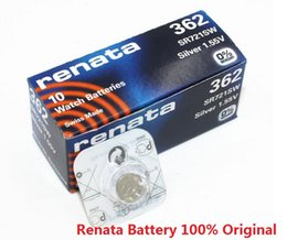 Wholesale Battery Ag1 - Wholesale 100Pcs Lot Brand New Renata 362 SR721SW AG1 1.55V Watch Battery Button Cell Swiss Made 100%Original free shipping