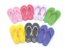 Wholesale Fashion Slippers For Girls - PINK Flat Heel Flip Slippers Size SML Textured Thong Strap Comfortable Summer Flip Flops Casual Sandals For Pretty Girl D792E