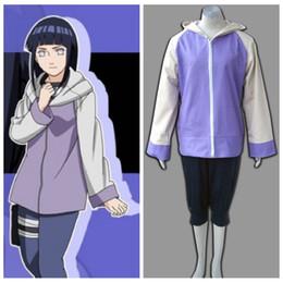 xxxl naruto cosplay Desconto Atacado-NARUTO cosplay anime Hyuuga Hinata uniforme traje halloween