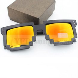 Wholesale mosaic mix - Wholesale-Deal with it Glasses Pixel Sunglasses Women Men Mosaic Female Male Sun Glasses Men's Women's Glasses CNC Design Retro