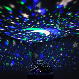 Wholesale Rotating Emergency Lights - Wholesale- Romantic Rotating Spin Night Light Projector Children Kids Baby Sleep Lighting Sky Star Master USB Lamp Led Projection Newest
