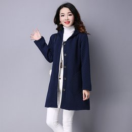 Wholesale Standard Wine Red - Women Coats for women Korean style Long sleeve Thicken Cotton Hooded Women Parkas Wine red Blue and Gray colors