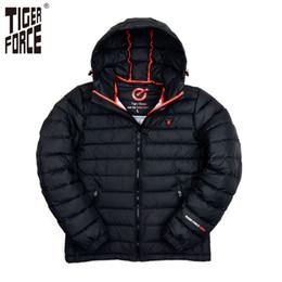 Wholesale Brand Bio - Wholesale-TIGER FORCE Brand Winter Jacket Mens Fashion Cotton Padded Jacket Winter Polyester Coat Bio-Cotton European Size Free Shipping