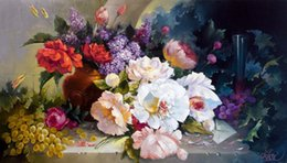 Wholesale Russian Cross Stitch - DIY Needlework Cross stitch Embroidery Kits Russian Famous flower Painting Patterns 3D Cross-Stitching Diamond Painting