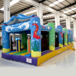 Wholesale Inflatable Fun Land - AOQI inflatable fun city inflatable Marine World fun city inflatable fun land for kids for sale made in China
