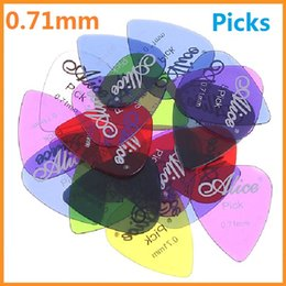 Wholesale Nylon Guitar Pick Plectrum - High quality New Alice 20pcs set 0.71mm Smooth Nylon Guitar Picks Plectrums , 5sets lot (100pcs) Dropshippig