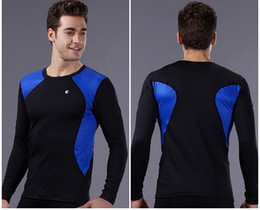 Wholesale Long Johns Sets For Men - New Fashion Thermal Underwear Sets for Men Wholesale 2015 Winter Outdoor Sports Windproof Blue Bike Bicycle Thermal Long Johns Sets Wears