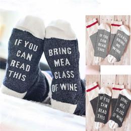Wholesale Beer Socks - Christmas socks IF YOU CAN READ THIS Bring Me a Glass of Wine Beer socks winter socks men women unisex hot