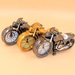 Wholesale Motorcycle Clock Wholesale - Motorcycle model alarm clocks Creative fashion Quartz Alarm Clock Creative home Creative Retro Gift Decor Kids Children Gift Christmas gift