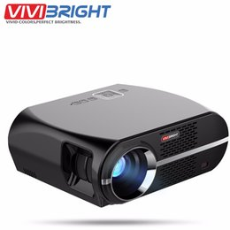 Wholesale Dlan Hdmi - Wholesale- VIVIBRIGHT Android 6.0.1 LED Projector GP100 UP 1280x800 Resolution 3200 Lumens Built-in WIFI Bluetooth DLAN Miracast Alirplay