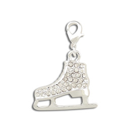 Wholesale Made Christmas Shoes - wholesale custom slide 50pcs a lot silver plated skate shoes jewelry findings&components pendant charms for necklace&bracelets making