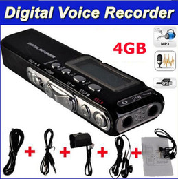 Wholesale Function Shipping Records - Free shipping Real 4GB Multi-function USB Mini Digital Audio Voice Recorder Dictaphone MP3 Player+Support Telephone recording