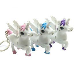 Canada Nouveau porte-clés pour hommes porte-clés Ainme cheval porte-clés led lumière son dessin animé cadeau de conception pour les enfants des femmes cheap animal sound keychain Offre