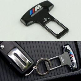 Wholesale Seat Belts Buckles Cars - Car-Styling Safety Seat Belt Buckles With Auto Emblem Logo Stop Alarm System For BMW All Series Toyota Honda Volkswagen etc
