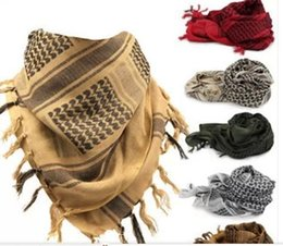 Wholesale Shemagh Tactical Desert Scarf - 2014 HOT Military Windproof Shemagh Tactical Desert ARAB Scarves Hijabs Scarf Cotton JY-A106 Free Shipping