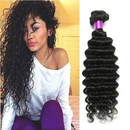 Wholesale 4pc 22 18 - 6A Cheap human hair wefts Brazilian deep wave virgin hair 4pc unprocessed Brazilian virgin hair deep wave Brazilian deep curly human weft