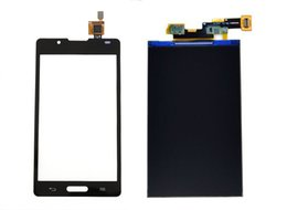 Wholesale Optimus L7 Ii - Wholesale-For LG Optimus L7 II P710 P705 P716 P713 Touch Screen Panel Sensor Lens Glass + LCD Display Monitor 100% Test Before Free Ship
