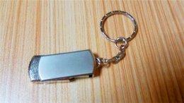 Wholesale Stainless Steel 256gb - 10pcs 32GB 64GB 128GB 256GB USB2.0 Key Chain Stainless Steel rotat USB 2.0 Key Chain Swivel USB Flash Drives PenDrives