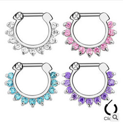 Wholesale Hot Unique Zircon Aztec Septum Clicker Nose Ring Stud Nose Piercing Stud body jewelry
