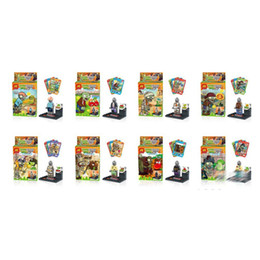 Wholesale Block Logos - Plants vs Zombies Block Mini Figure Toys Compatible with Logo Parts 8Pcs Set 78061
