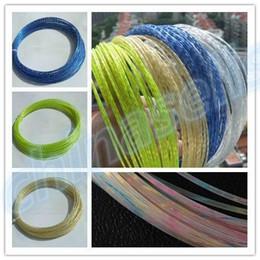 Cordes de raquettes de tennis en Ligne-1 PCS 12M Rough 1,35 MM titane ligne de corde de tennis cristal puissance Raquettes de tennis cordes formation ligne de corde de raquette
