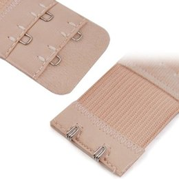 Wholesale Extension Clips Pcs - Nude Bra Extender Extension 7.6*3.3 cm Elastic 2 Row 2 Hooks Clip On Strap Soft 1 Pcs Bra Band Extenders Intimates Accessories